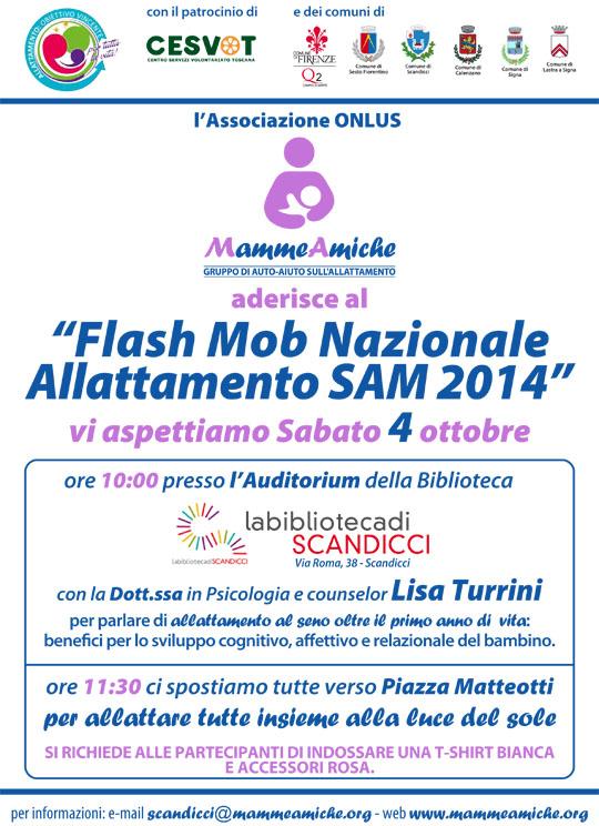 Flash Mob Nazionale Allattamento SAM 2014 - MammeAmiche ONLUS