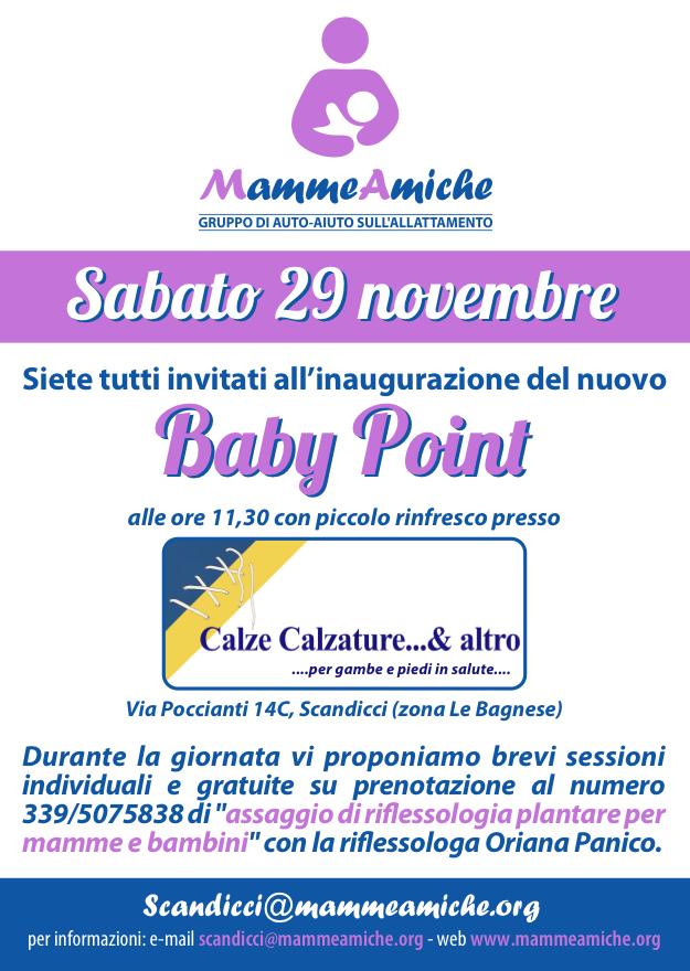 Sabato 29/11/14 – Inaugurazione nuovo Baby Point a Scandicci