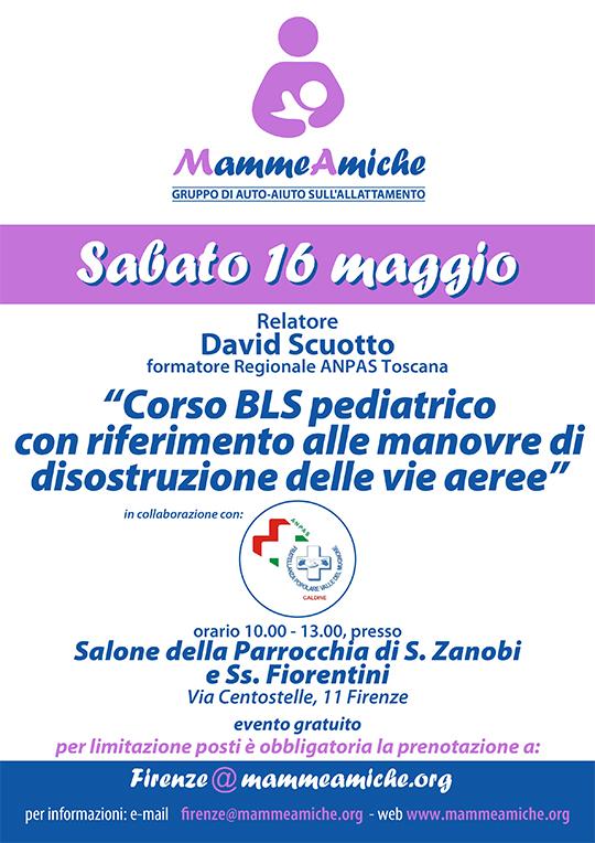 Al via un Corso BLS pediatrico anche a Firenze