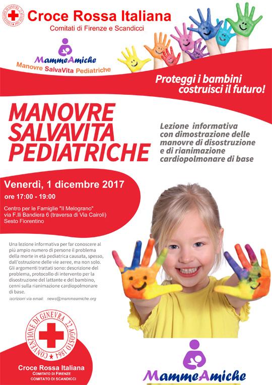 Manovre Salvavita Pediatriche a Sesto il 1 dicembre 2017