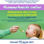 APRILE 2021: Incontri online MammeAmiche