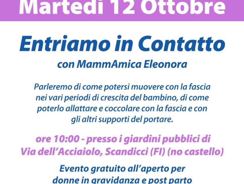 mart 12 ottobre: Entriamo in contatto