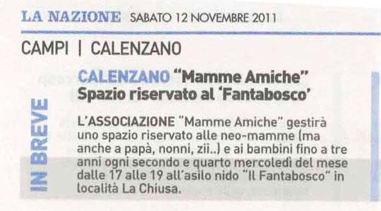 """MammeAmiche di Calenzano: Spazio riservato al """"Fantabosco"""""""