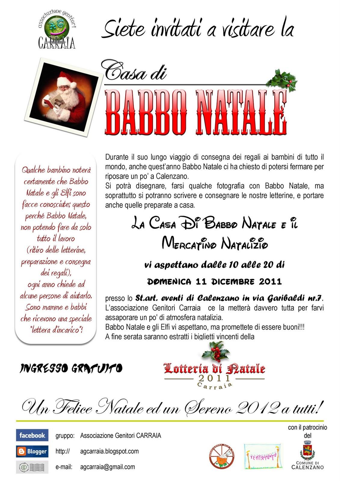 La Casa di Babbo Natale è a Calenzano!